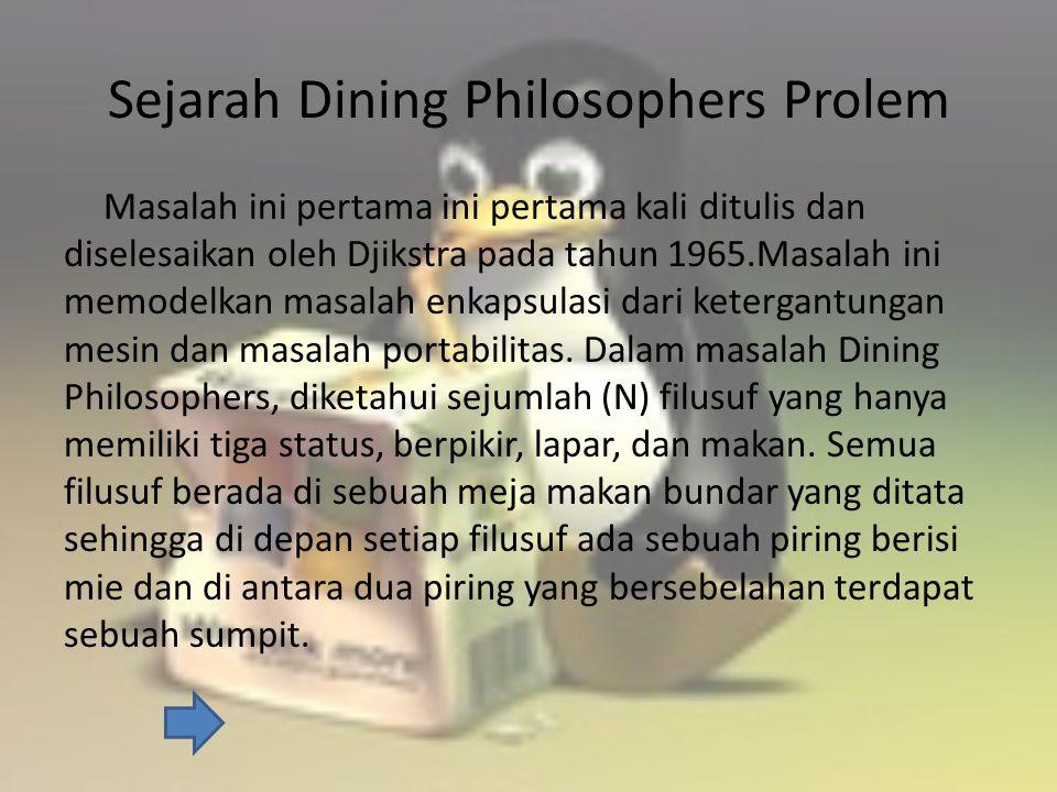 Ilustrasi Dining – Philosophers Problem