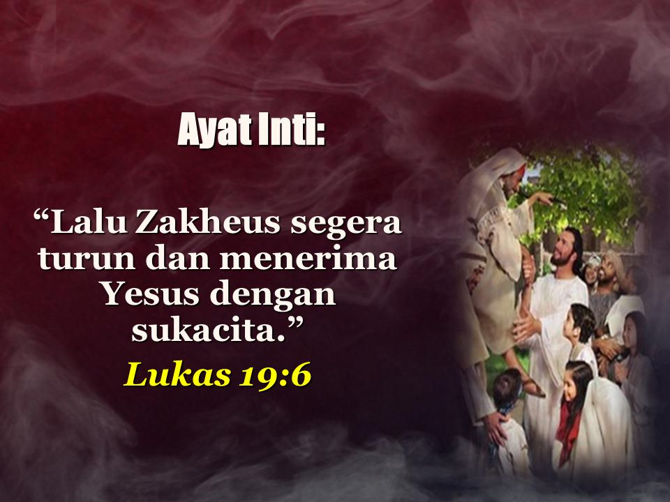 Luk 19:1 Yesus masuk ke kota Yerikho dan berjalan terus memasuki kota itu.Yesus masuk ke kota Yerikho dan berjalan terus memasuki kota itu.