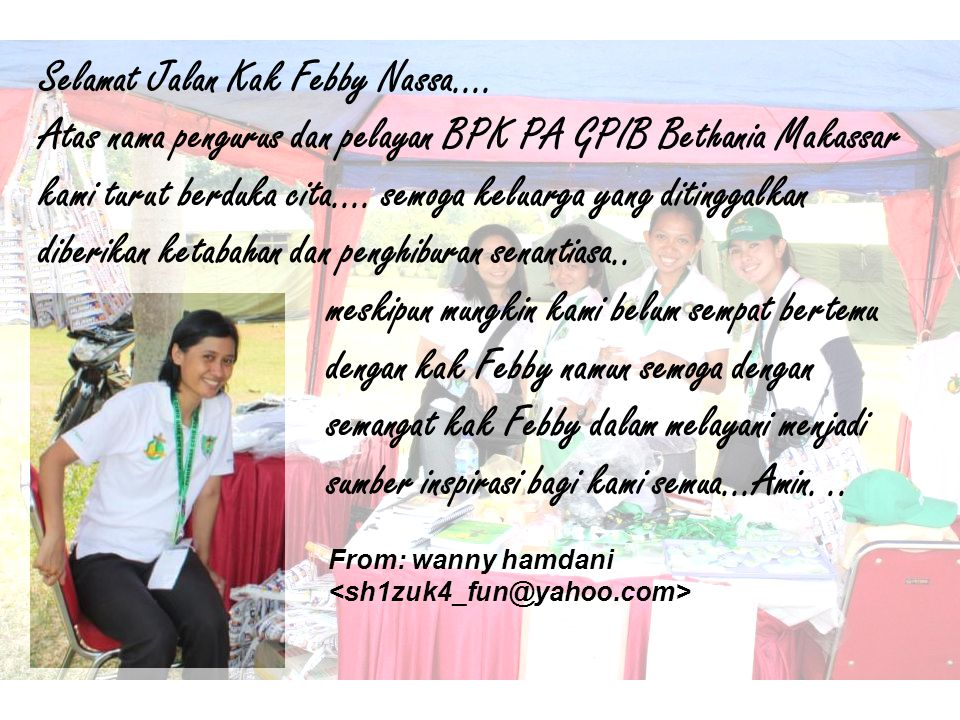 Our deepest condolonces to Kak Febby s family...