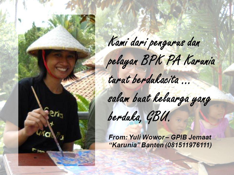 turut berduka cita atas meninggalnya rekan sekerja Sdri.