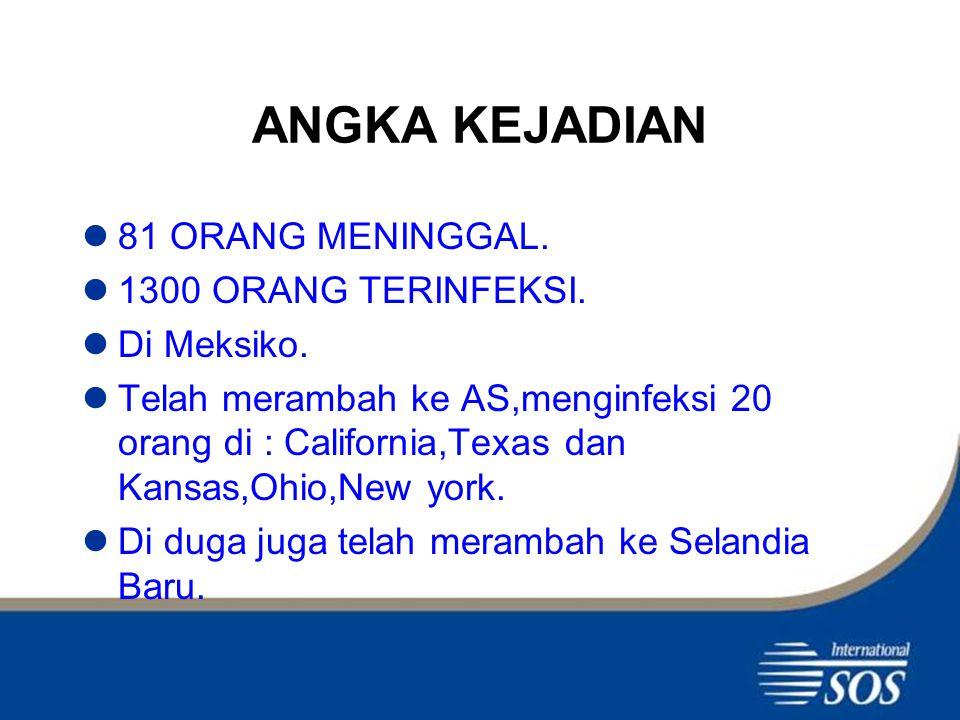 SITUASI di INDONESIA Belum ditemukan kasus Flu babi di Indonesia.