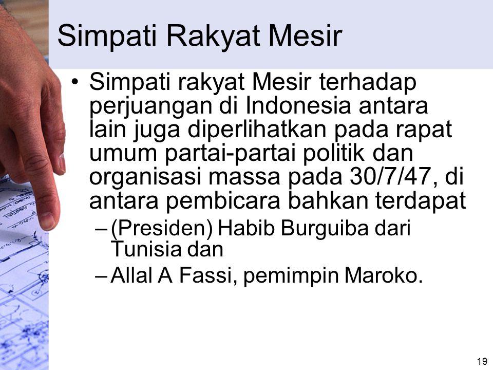 Resolusi untuk Indonesia Rapat umum itu menyetujui satu resolusi.