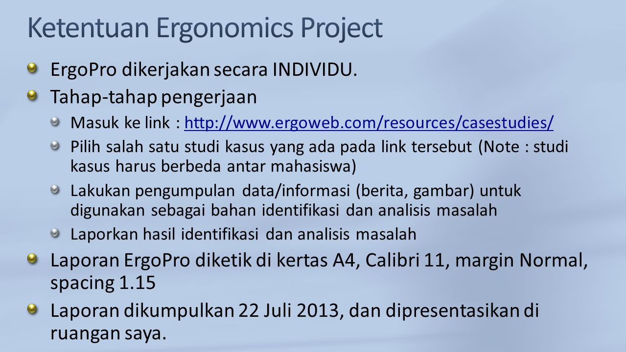1.Halaman Sampul (Judul Studi Kasus, Nama, NIM) 2.Deskripsi Studi Kasus Informasi yang terdapat di link tersebut hanya merupakan informasi umum.