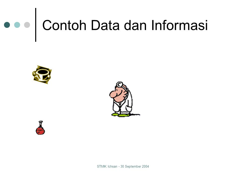 STMIK Ichsan - 30 September 2004 Contoh Data dan Informasi