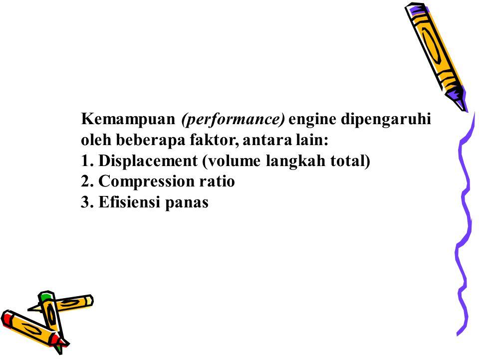 Kemampuan (performance) engine dipengaruhi oleh beberapa faktor, antara lain: 1.