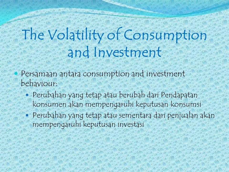 Perbedaan penting antara keputusan konsumsi dengan keputusan investasi: 1.
