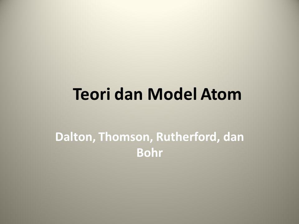 Model Atom Dalton Teori John Dalton (1766-1844) adalah sebagai berikut.