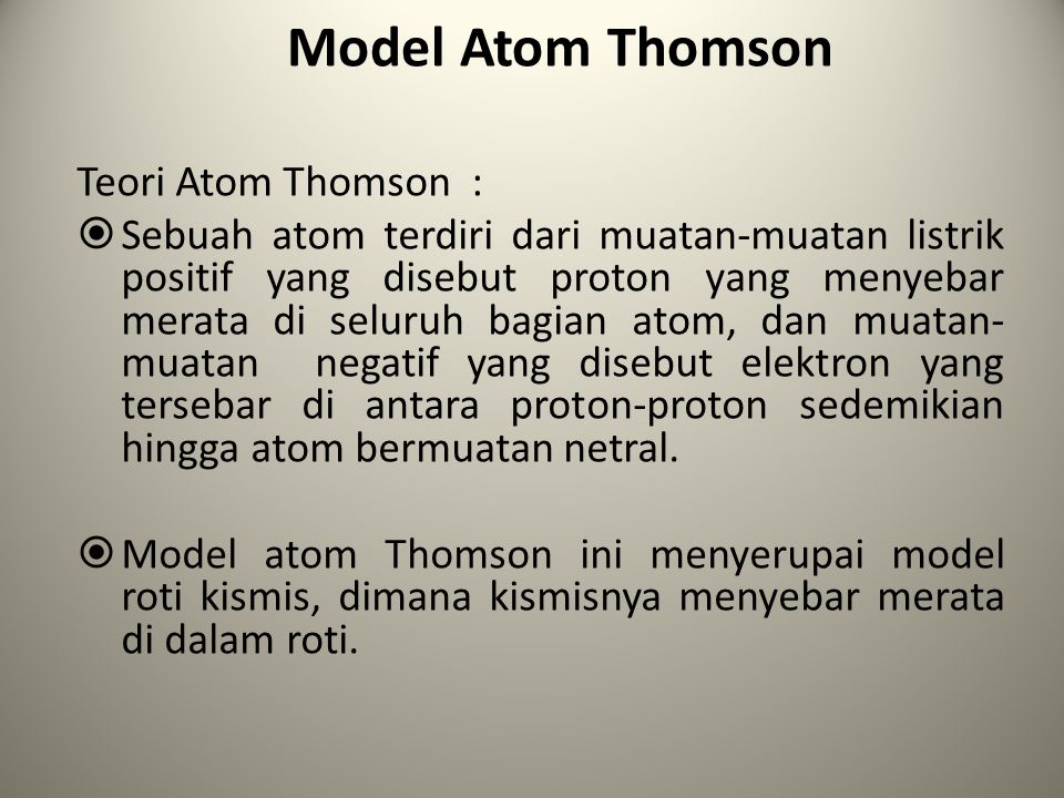 Model Atom Rutherford a.