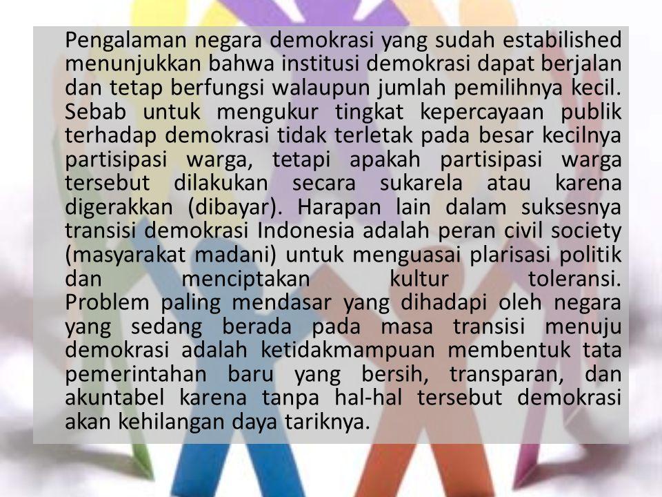 B.Perumusan Masalah 1.Sebutkan pilar penegak yang terdapat di Civil Society .