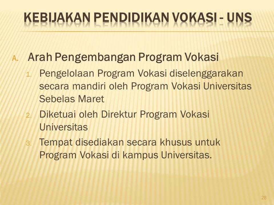 A.Arah Pengembangan Program Vokasi 1.