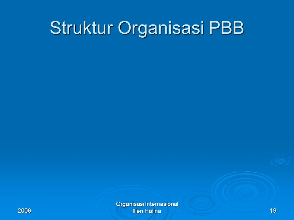 2006 Organisasi Internasional Ilien Halina20 Majelis Umum  Ketentuan MU ada dlm chapter IV Ps 9-22 yg mengatur ttg komposisi, fungsi, power, voting dan prosedur.