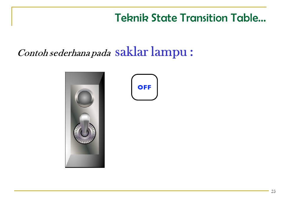 Teknik State Transition Table... 24