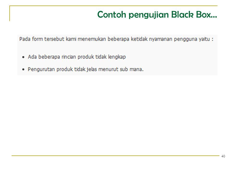 Contoh pengujian Black Box... 41