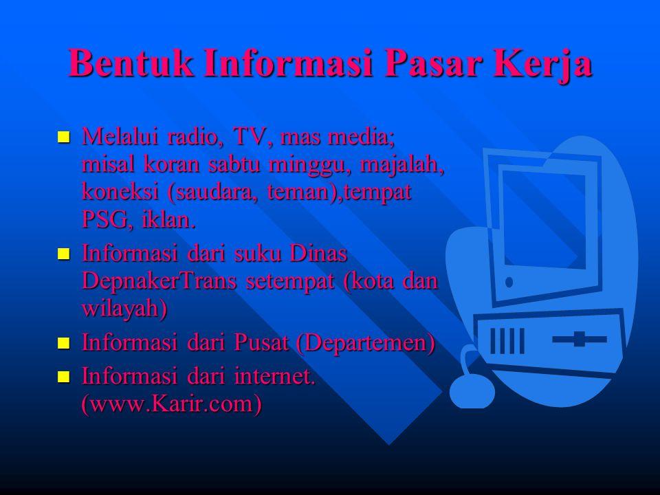 PERSIAPAN DIRI UNTUK MEMASUKI DUNIA KERJA Mempersiapkan/mengumpulkan data; KTP, ijasah, sertifikat,SKCK Mempersiapkan/mengumpulkan data; KTP, ijasah, sertifikat,SKCK Mencari informasi.