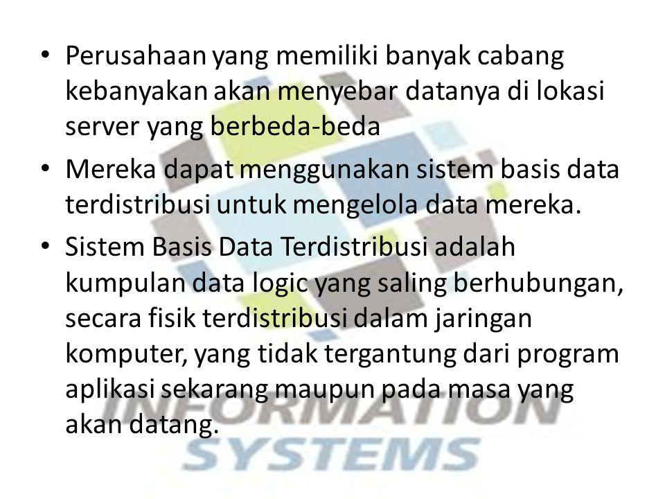 Namun banyak sekali kendala yang mengikuti sistem basis data ini, mulai dari bagaimana menjaga konsistensi datanya, hingga kemungkinan terjadinya replikasi data di situs.