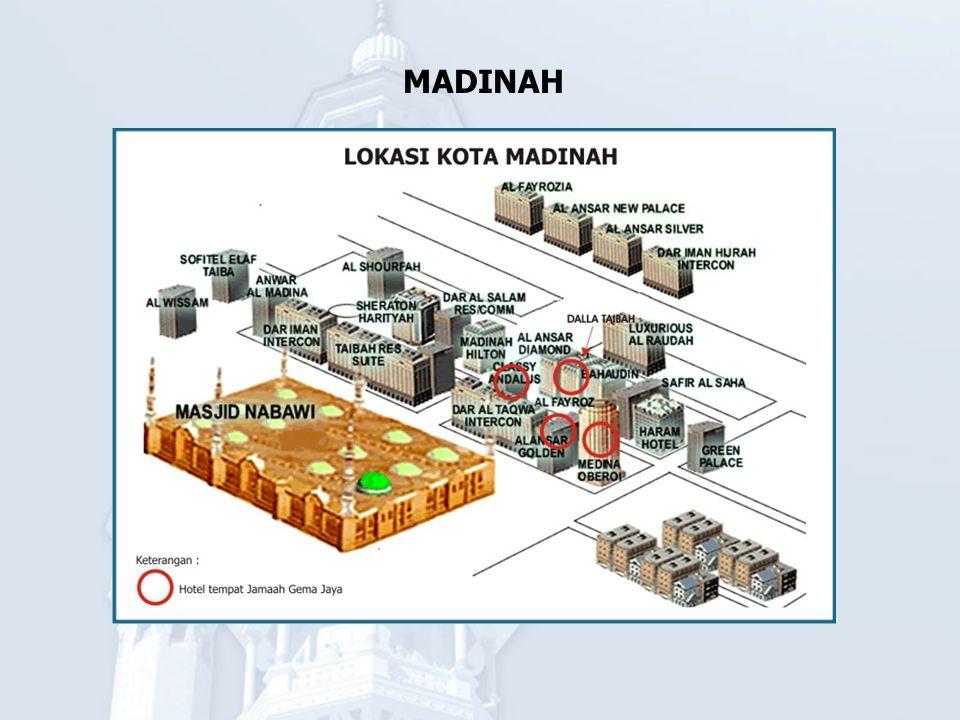 ZIARAH KOTA MADINAH Masjid Nabawi memiliki pahala dan keutamaan bagi kaum Muslimin.