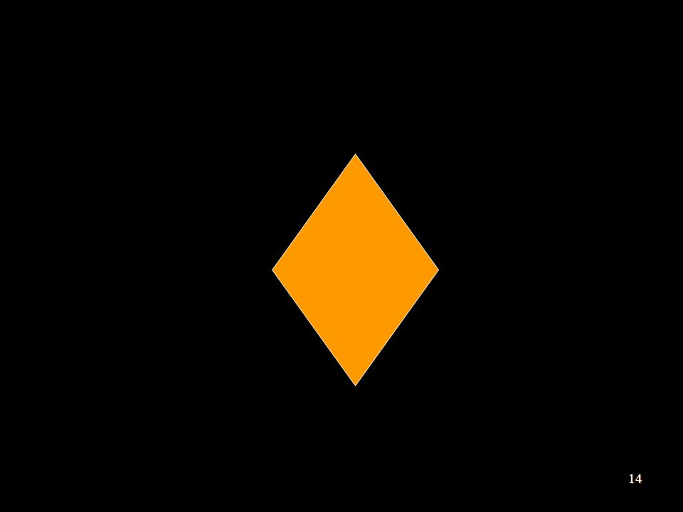Simbol percabangan digambarkan dengan bangun belah ketupat.