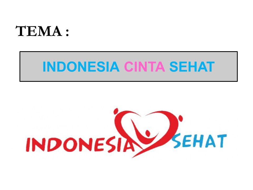 SUB TEMA : INDONESIA CINTA SEHAT, IBU SELAMAT ANAK SEHAT Masyarakat indonesia cinta perilaku sehat, cinta lingkungan sehat, peduli kesehatan ibu dan mengupayakan anak indonesia yang sehat dan cerdas.