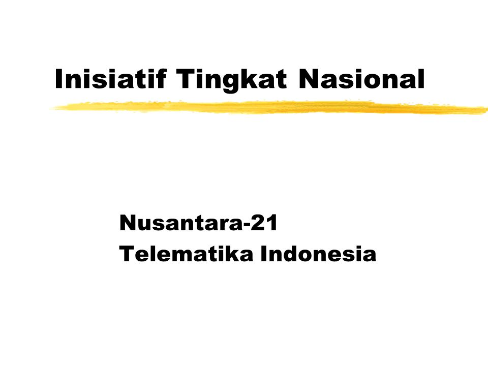 Nusantara-21 Wahana transformasi menuju knowledge based society