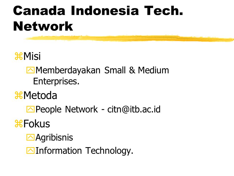 Canada Indonesia Library Network zMisi yInformation & Knowledge sharing Indonesia- Canada.