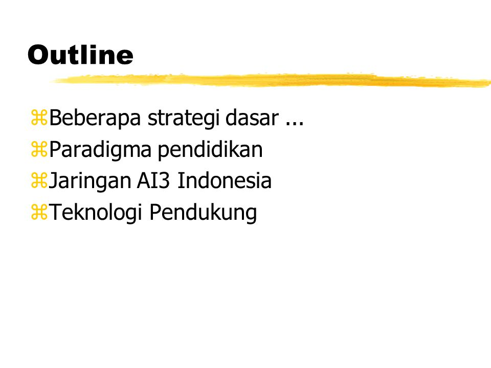 Strategi Dasar zBuilt the Supporting Technology zCustomer based & User empowerment (self-finance).