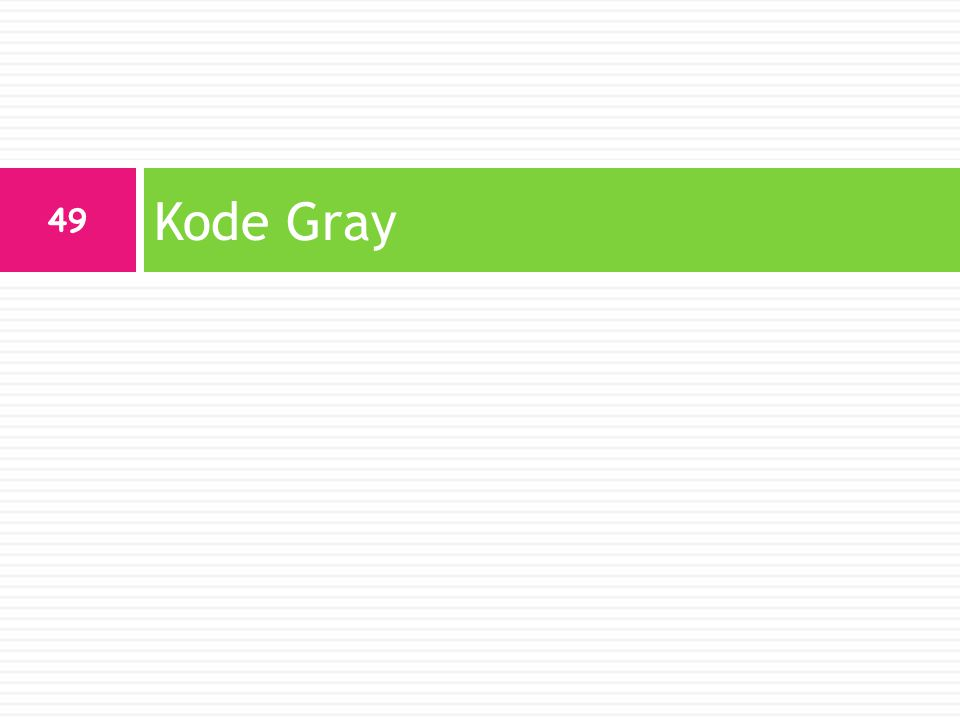 Gray Code  What special property does the Gray code have? 50