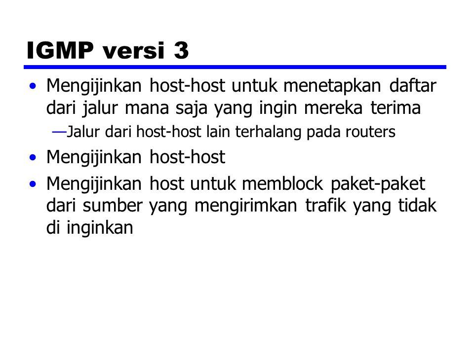 IGMP format pesan permintaan keanggotaan