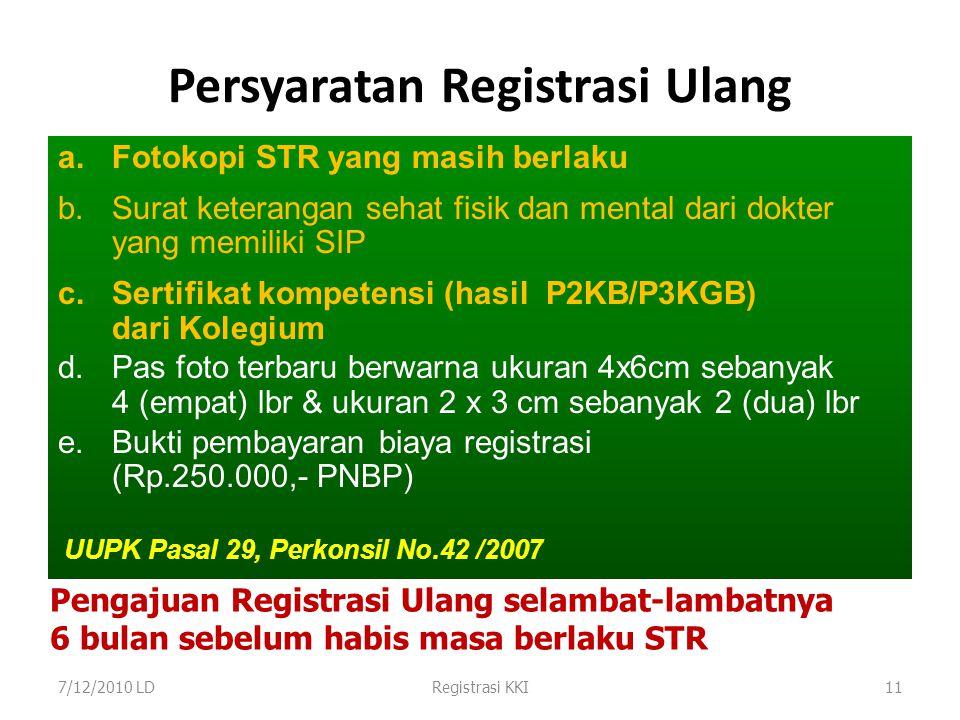 12 PENOMORAN STR Kode Provinsi Lulusan Kode Jenis Kelamin Kode dr atau drg Kode Kompetensi Nomor Registrasi Tahun Registrasi Registrasi ke ….