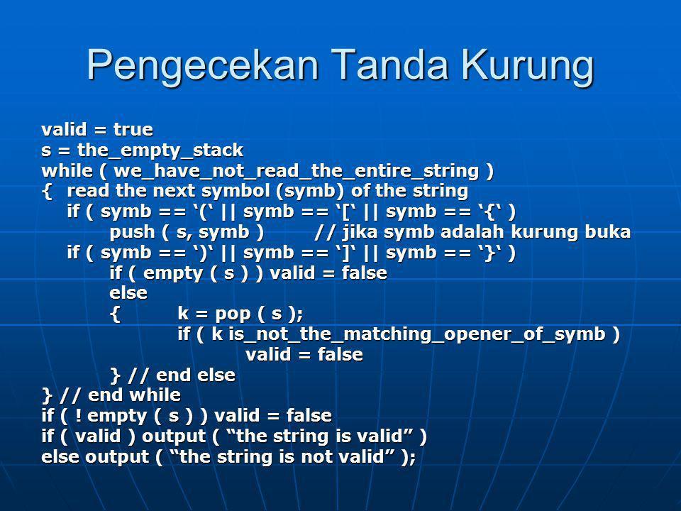 Example Case Cek apakah string di bawah ini valid.