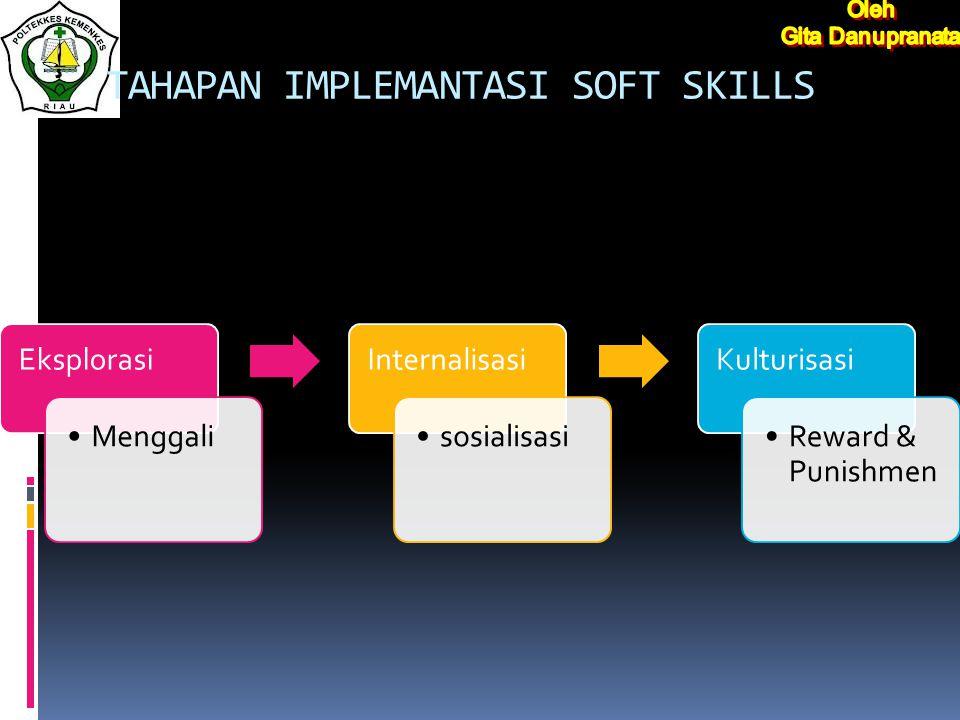 Pengembangan soft skills melalui mata kuliah tertentu, masih cenderung mengarah ke ranah kognitif.