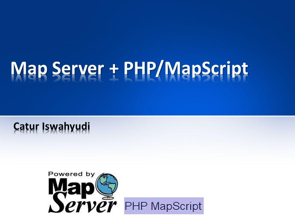MapServer merupakan aplikasi freeware dan open source yang memungkinkan kita menampilkan data spasial (peta) di web.