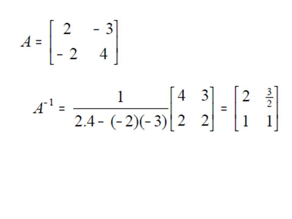 Transformasi (Operasi) elementer pada baris dan kolom suatu matrik Yang dimaksud dengan transformasi elementer pada baris dan kolom suatu matrik A adalah sebagai berikut : 1a.Penukaran tempat baris ke – i dan baris ke – j ditulis H(A) b.Penukaran tempat kolom ke – i dan kolom ke – j ditulis K(A) 2aMengalikan baris ke – i dengan skalar  0, ditulis H(A) b.Mengalikan kolom ke – j dengan skalar  0, ditulis K(A) 3a.Menambah baris ke – i dengan kali baris ke – j ditulis Hij( )(A) b.Menambah kolom ke – i dengan kali kolom ke – j ditulis Kij( )(A)