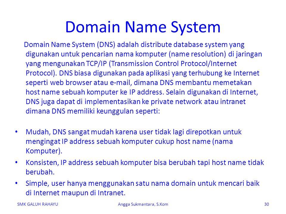 DNS dapat disamakan fungsinya dengan buku telepon.