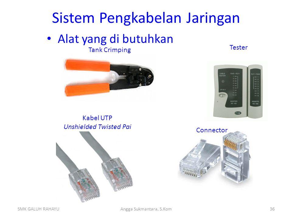 Jenis Kabel Kabel Straight merupakan kabel yang memiliki cara pemasangan yang sama antara ujung satu dengan ujung yang lainnya.