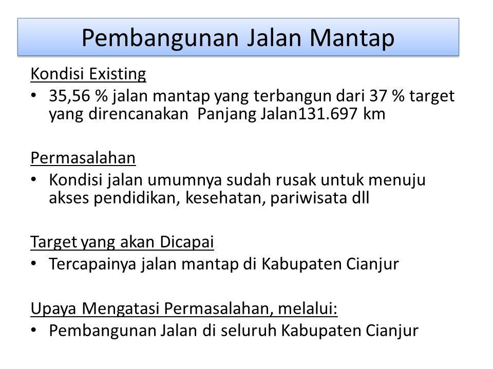 Pembangunan lainnya Pembangunan Irigasi Mendukung tematik kewilayahan dalam peningkatan padi pandan wangi dll.