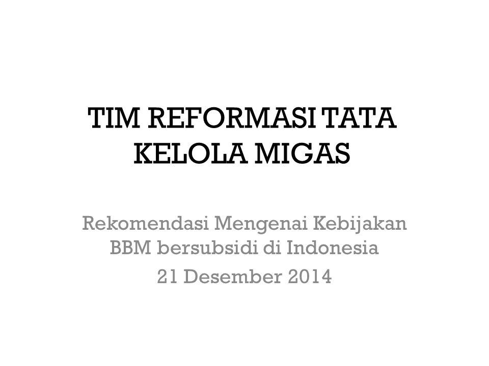 Komposisi Sumber BBM Indonesia BBM di Indonesia berasal dari 2 sumber : I.Hasil Produksi Kilang Pertamina II.Impor BBM