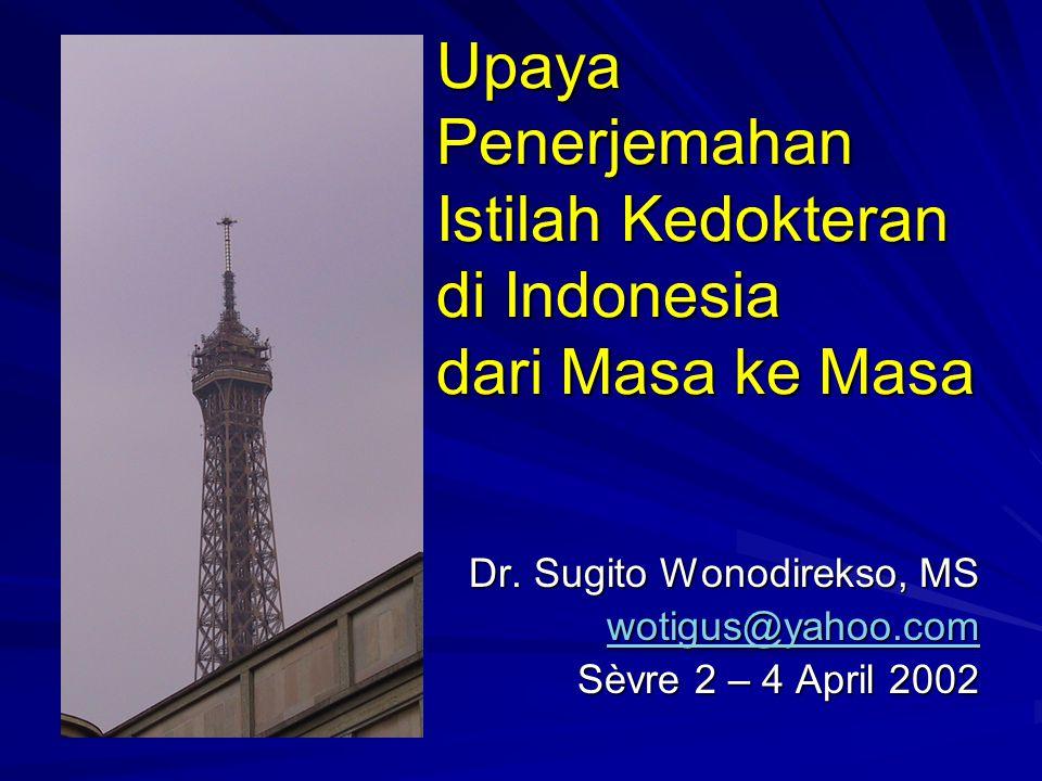 4 April 2002 Sugito Wonodirekso - Indonesia 2 Rangkaian PendahuluanPerkembangan Yang sekarang dilakukan Yang menyulitkan Simpulan