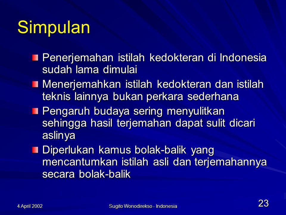 4 April 2002 Sugito Wonodirekso - Indonesia 24