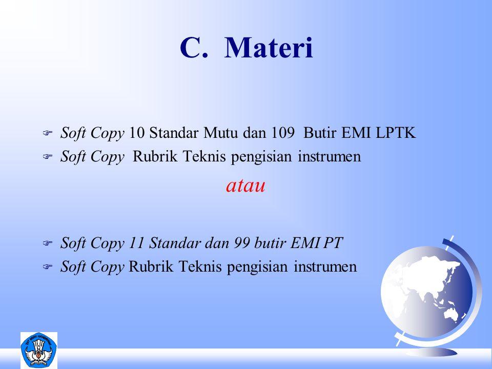 Standar Mutu EMI LPTK 1.Standar Isi 2. Standar Proses 3.