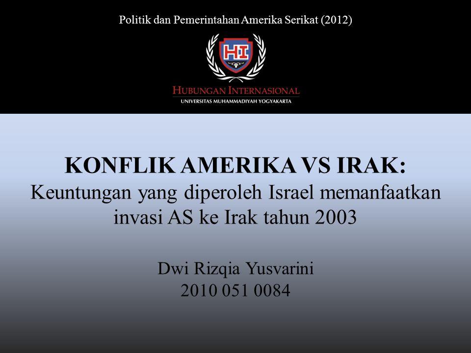 Latar Belakang Invasi pasukan koalisi pimpinan Amerika Serikat (AS) ke Irak tahun 2003 merupakan serangkaian perang yang sudah direncanakan.