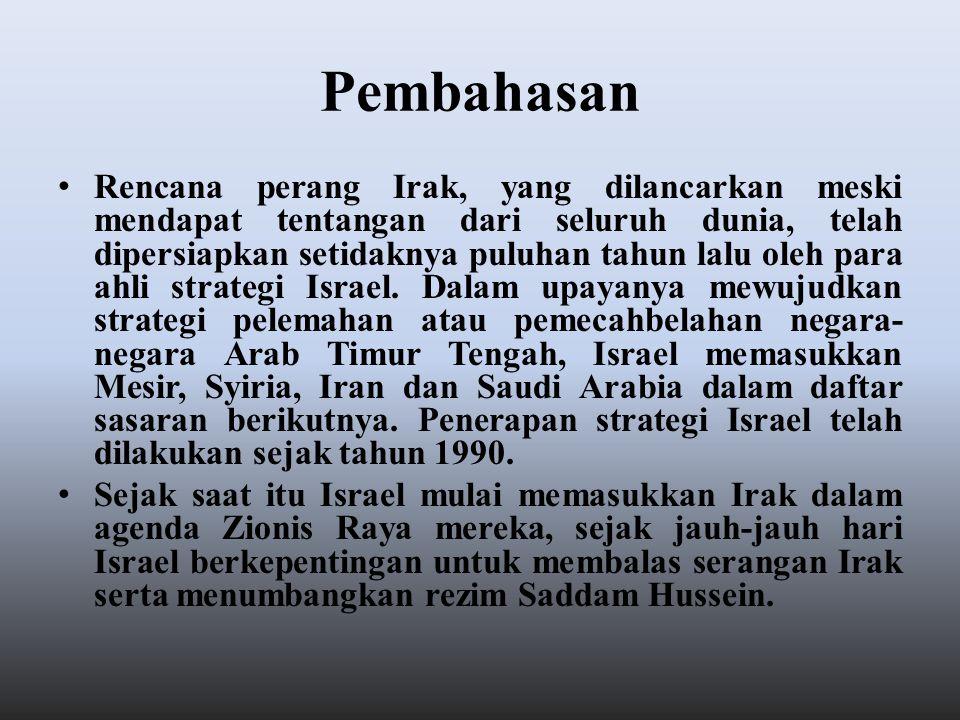 Kepentingan Israel tersebut bisa diwujudkan dengan cara berkoalisi dengan negara lain, dalam hal ini Israel menggunakan soft powernya dengan menempatkan para pelobi Yahudi untuk mempengaruhi bahkan memaksa sekutu paling royalnya yaitu Amerika.