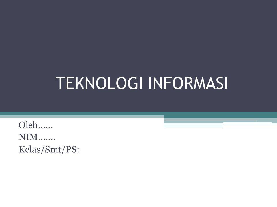 INFORMASI UMUM TEKNOLOGI INFORMASI TI adalah bidang pengelolaan teknologi dan mencakup berbagai bidang yang termasuk tetapi tidak terbatas pada hal-hal seperti proses, perangkat lunak komputer, sistem informasi, perangkat keras komputer, bahasa program, dan data konstruksi.