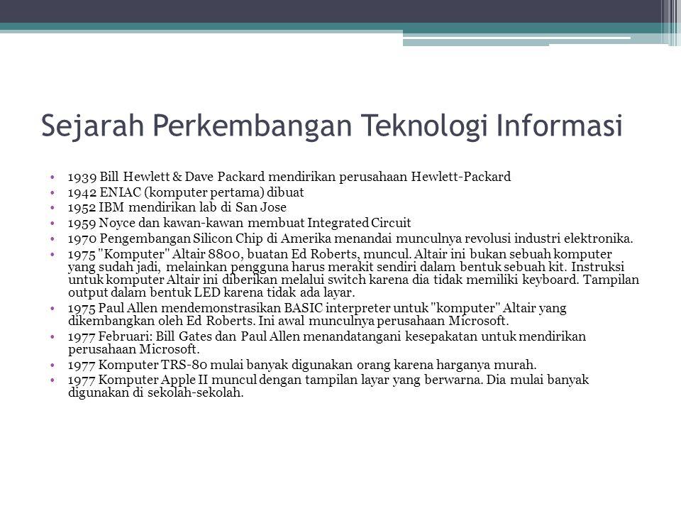 Sejarah Perkembangan Teknologi Informasi 1978 14 Februari.