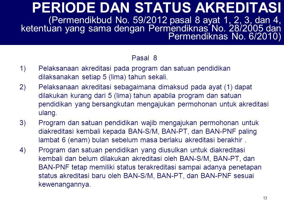 14 STATUS AKREDITASI (Permendikbud No.