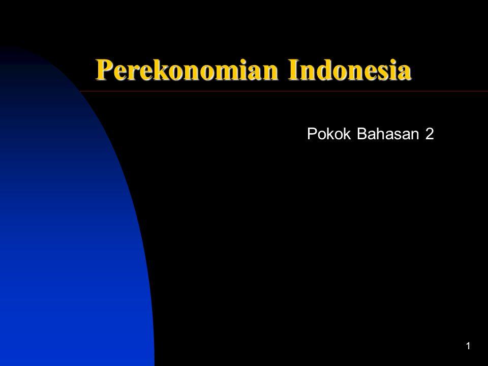 Pokok Bahasan 2 Sistem Ekonomi Indonesia 1 Perekonomian Indonesia