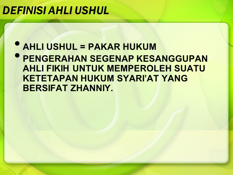 KEDUDUKAN HASIL IJTIHAD HASIL IJTIHAD = FIKIH = MADZHAB = PENDAPAT = BERSIFAT ZHANNIY/ RELATIF.