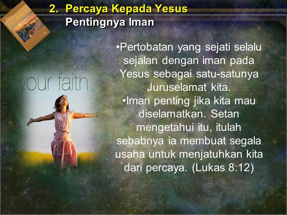 Iman yang menyelamatkan bukanlah tanpa isi sama sekali.