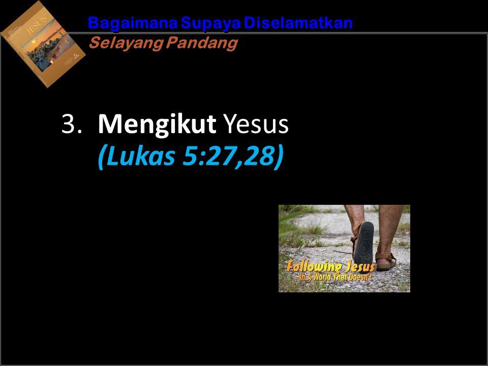 Kemudian, ketika Yesus pergi ke luar, Ia melihat seorang pemungut cukai, yang bernama Lewi, sedang duduk di rumah cukai.