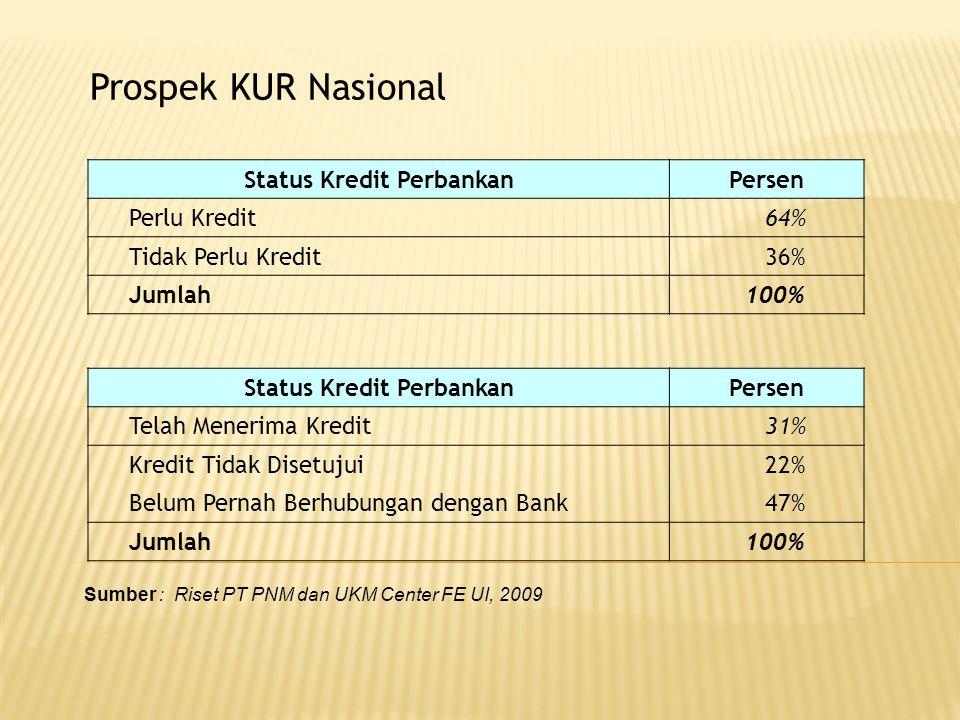 Responden Adakah Pembinaan dari Bank Pelaksana Tidak JawabYaTidak Non KUR98.48%0.001.52% Mikro0.88%18.82%80.31% Ritel1.01%22.22%76.77% All11.25%17.36%71.38% Persepsi Debitur terhadap Suku Bunga Sumber : Riset PT PNM dan UKM Center FE UI, 2009.