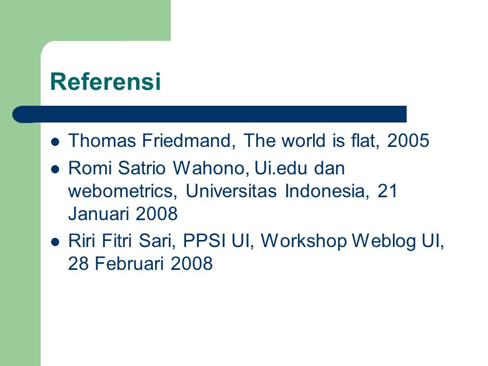 Web Personal Dosen: http://staff.ui.edu